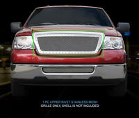 Rivet Mesh Grille Grill For Ford F-150 Honeycomb Style 2004 2005 2006 2007 2008