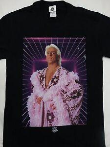 Ric-Flair-portant-Robe-Officially-Licensed-Wrestling-WWE-T-Shirt-Noir