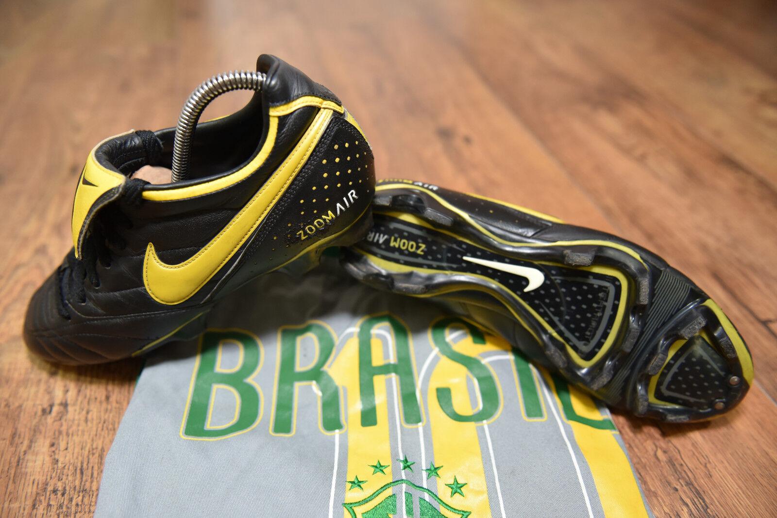 Leyenda de Nike Air Zoom Brasil FG botas De Fútbol Pro Tamaño 8 en muy buena condición Ronaldinho Pele