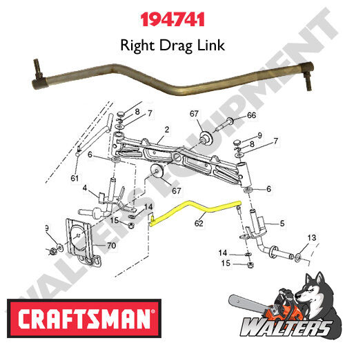 Craftsman 917 288220 Ys4500 Right Drag Link Part 194741 Ebay