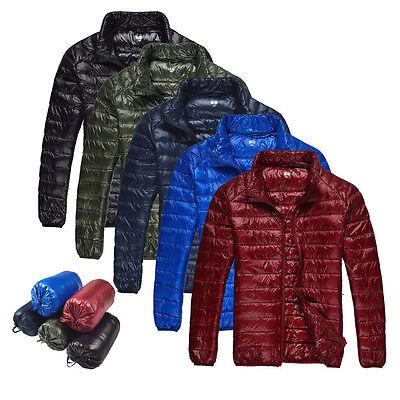 New Mens Ultra Light Travel Portable Thin Coat Outerwear Duck Down Jackets ZA186