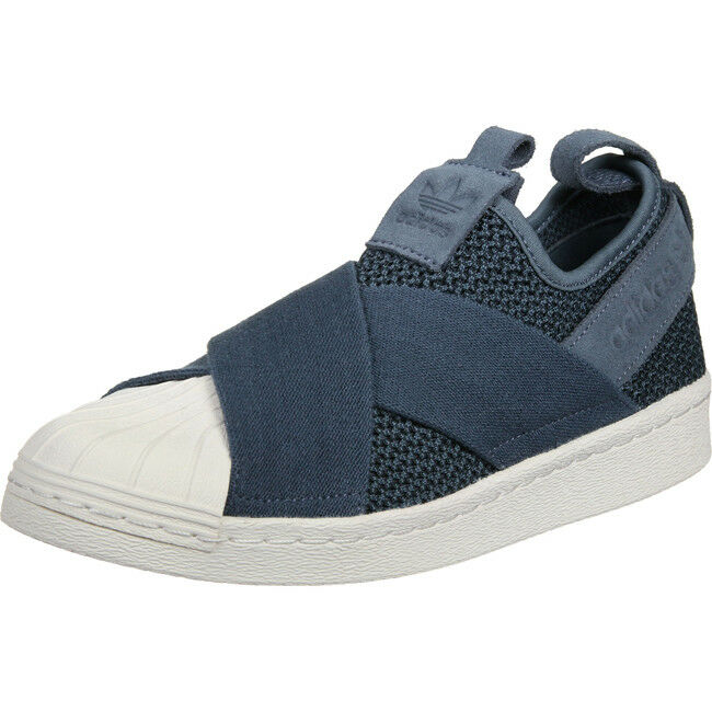 Adidas Originals Superstar Slip ON Sneaker Damen Schuhe Turnschuhe Trainers Blau Damen Sneaker 69171d