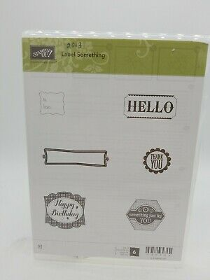 New Stampin Up Label Something Stamp Set Ebay