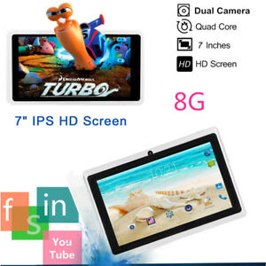 "7"" Inch Android Tablet 8GB Quad Core Dual Camera Bluetooth Wifi wireless Tablet"