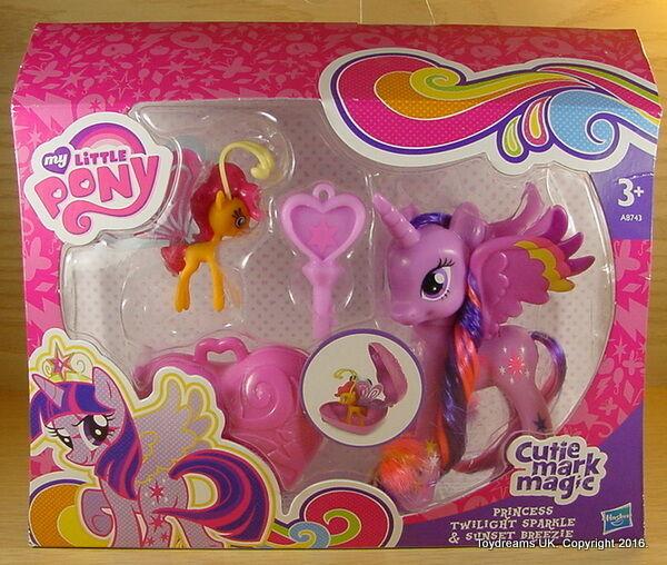My Little Pony G4 Cutie Magic Mark PRINCESS TWILIGHT SPARKLE & SUNSET BREEZIE !
