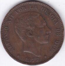 1877 Spain 10 Centimos***Collectors***Bronze***