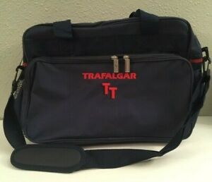 Trafalgar-Shoulder-Bag-Overnight-Carry-On-Navy-Blue-With-Red-Embroidery-NWOT