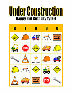 Image Is Loading Under Construction Boy 039 S Personalized Birthday Party