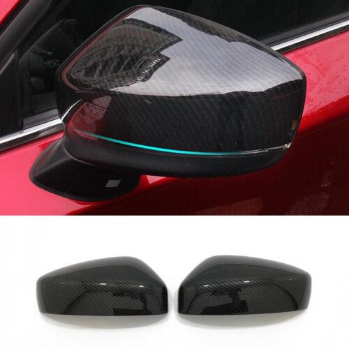 For Mazda CX-5 CX5 2017 2018 ABS Sport Carbon Fiber Rearview Mirror Cover Trim