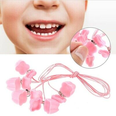 5pcs Baby Kids Milk Tooth Storage Box with Rope Tooth Saver Necklaces 5 Colors