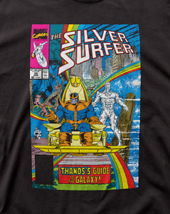 Available Sm to 2x Silver Surfer #35 Thanos/'s Guide to the Galaxy Men T-shirt