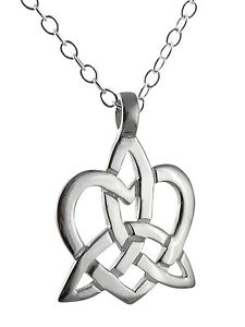 Trinity knot heart necklace 925 sterling silver celtic triquetra image is loading trinity knot heart necklace 925 sterling silver celtic mozeypictures