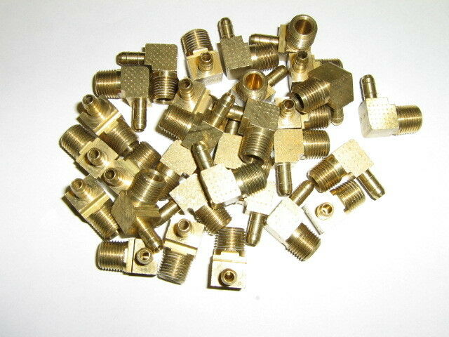 Forged Brass 90 Degree Right Angle Ell Pack of 2 1//4 NPT Male x 1//4 NPT Male Legines 90-Degree Male Elbow Fitting