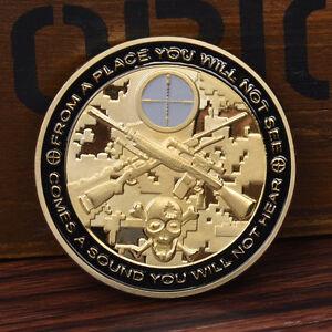 1pc-Cool-Sniper-Gold-Commemorative-Coin-New