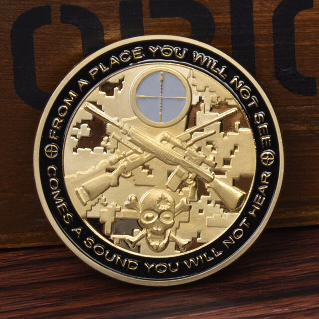 1pc Cool Sniper Gold Commemorative Coin Collection