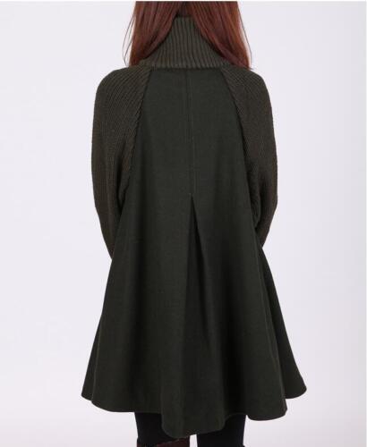 Women/'s Winter Warm A-line Wool Button Down Coat Coats Jacket Swing Overcoat