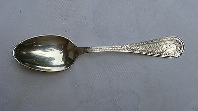 Antique Whiting MFG Sterling Silver Teaspoon 1905 Violet Pattern Unengraved Co