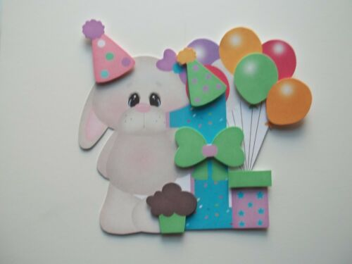 3D BD1 Birthday Bunnies Dragons Monkeys Scrapbook Card Embellishment U Pick