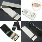 1Pc New Stainless Steel Money Clip Silver Metal Pocket Holder Wallet Credit Card