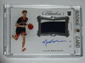2020-Panini-Flawless-Collegiate-NICO-MANNION-Rookie-Patch-AUTO-True-RPA-20-GS