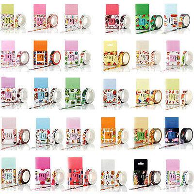 10M DIY Self Adhesive Cartoon Washi Masking Tape Sticker Craft Decor Decorative