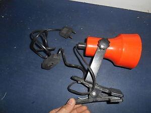 Ancienne-Vintage-Lampe-a-Pince-Spot-Eclairage-en-Plastique