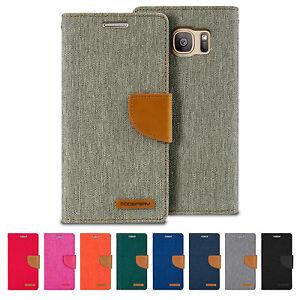 GOOSPERY-Canvas-Diary-Flip-Cover-Galaxy-S9-S8-Plus-S7-Edge-S6-Edge-Plus-S5-Case