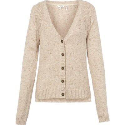 Women/'s White BNWT Fat Face Rose Cardi 100/% Cotton