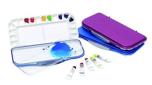 Martin Mijello Airtight Watercolor 18-Well Palette Blue, Fuchia