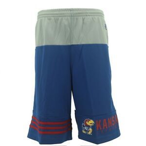 Kansas Jayhawks Kids Youth Size Official NCAA Adidas Official Shorts New
