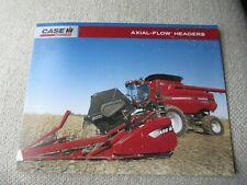 Case Caseih Axial Flow Combine Headers Brochure