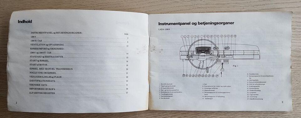 Instruktionsbog, LADA 2101 S