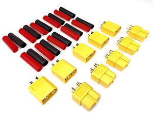 10-Paar-20stueck-Original-XT60-Goldstecker-Stecker-Lipo-Akku-Schrumpfschlauch