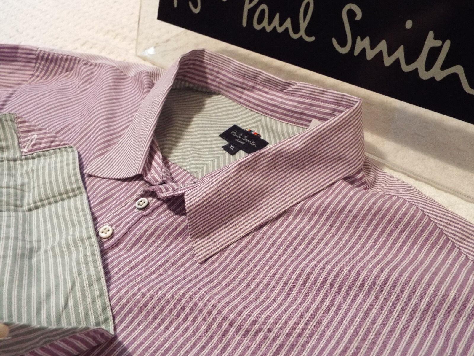 Paul Smith Da Uomo Camicia  Taglia XL (circonferenza petto 46 )  RRP +  a Righe & contrasti