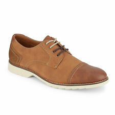 Dockers Mens Murray Mixed Material Textile Casual Lace-up Cap Toe Oxford Shoe