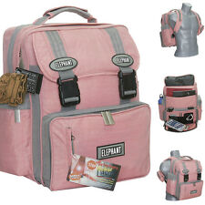 Schulrucksack ELEPHANT XL FLOWER Schultasche Rucksack Schulranzen rosa BRAUN