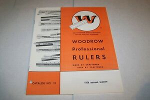 Vintage Catalog #451 - 1974 WOODROW PROFESSIONAL advertising rulers