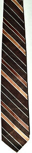 Men-039-s-Polyester-Neck-Tie-Brown-with-gray-diagonal-stripes-by-Tonino-Firenze