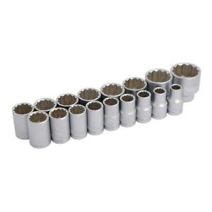 17-Piezas-1-3cm-Dr-Set-de-Vasos-12-Puntos-Enchufes-con-Estuche-Almacenamiento