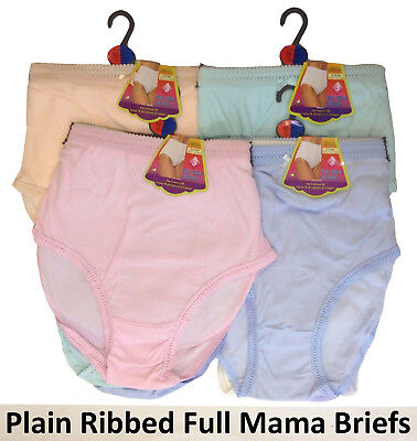 12 LADIES FULL SIZE BRIEFS EMBROIDERY KNICKER MAMA UNDERWEAR WOMENS MAXI PANTIES