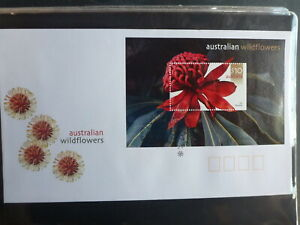 2006-AUSTRALIA-WILDFLOWERS-STAMP-MINI-SHEET-FDC-FIRST-DAY-COVER