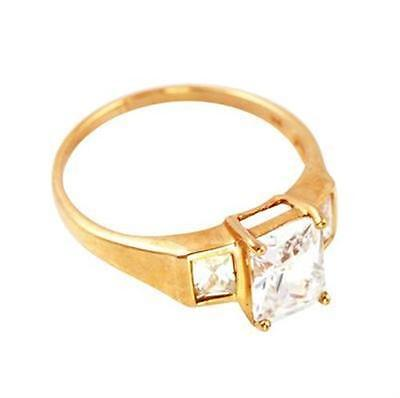 1.9ct Sparkling 9ct 9K Solid Gold Trilogy Ring - 30 Day Return - Free Shipping