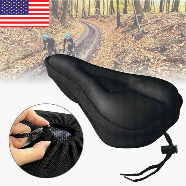 Bike Bicycle Wide Big Bum Soft Extra Comfort Saddle Seat Pad W// Waterproof Cover
