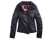 Harley Davidson Women's #1 Black Skull Lambskin Leather Jacket 97014-14VW 2XL