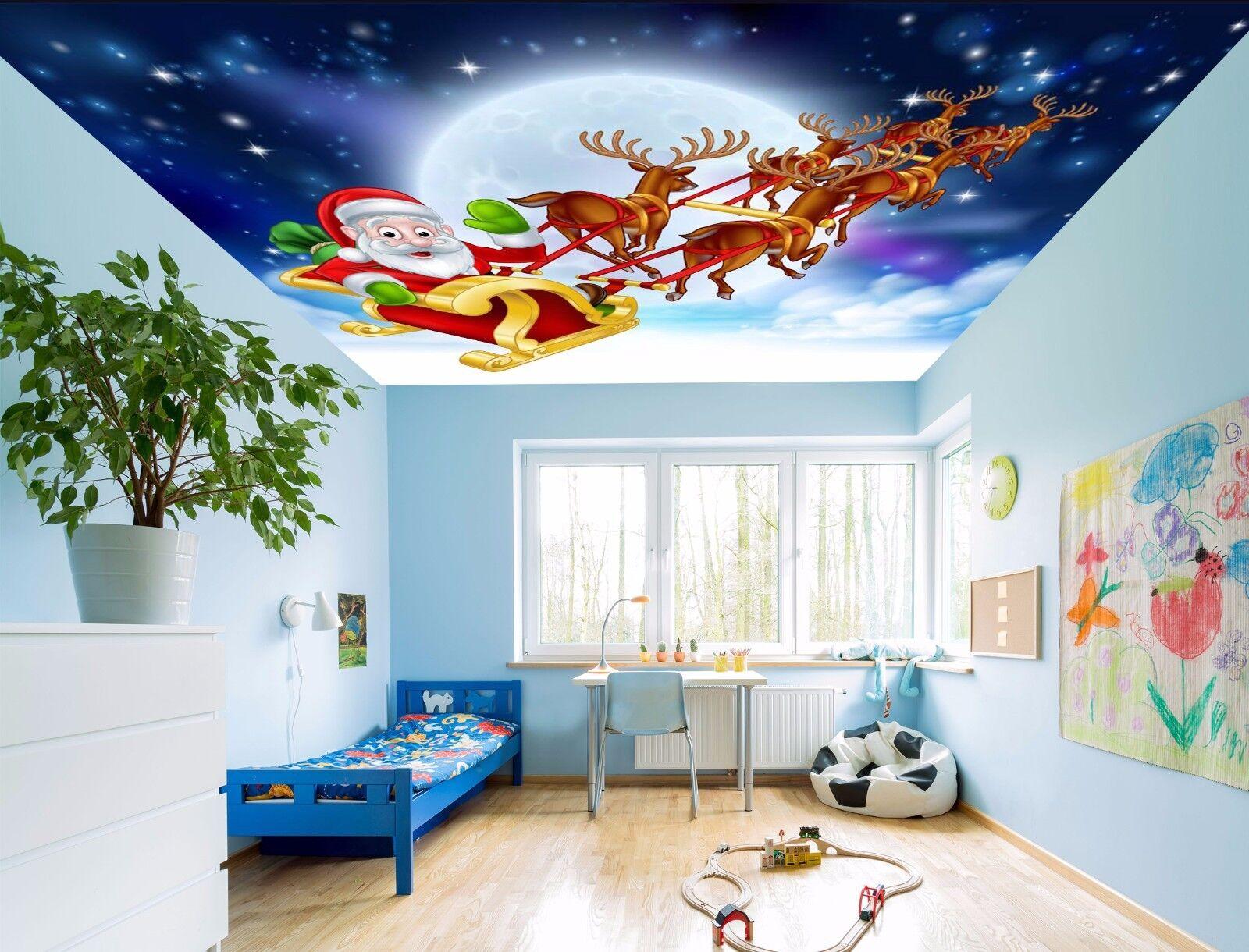 3D Santa Claus 754 Ceiling WallPaper Murals Wall Print Decal Deco AJ WALLPAPER