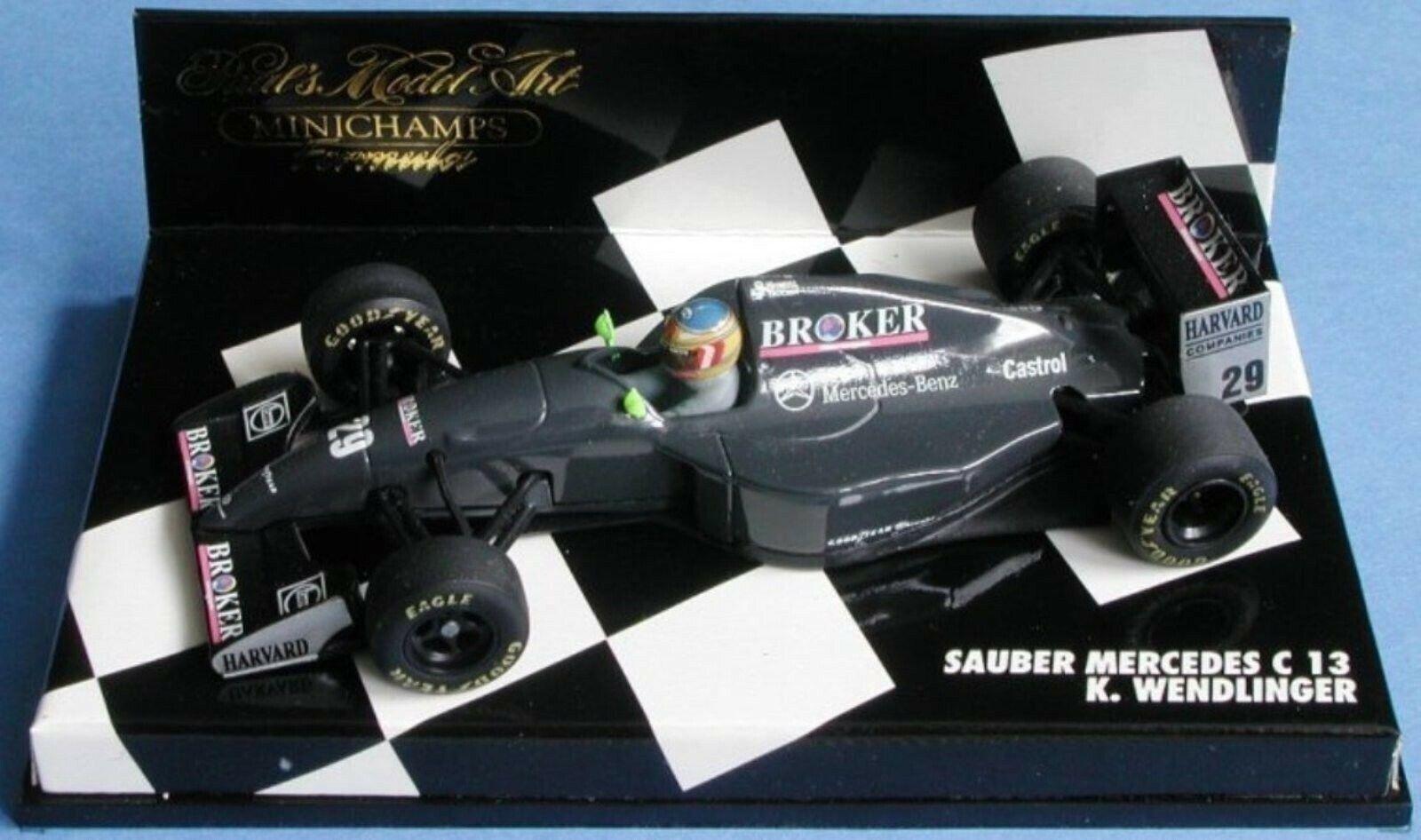 Wow extrêmement rare SAUBER C13 Mercedes Wendlinger Monza 1994 1 43 Minichamps