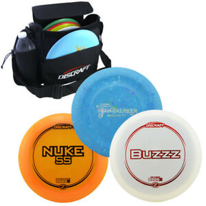 Discraft-Disc-Set-with-Bag-Driver-Mid-Range-Putter-Multiple-Weights-amp-Colors