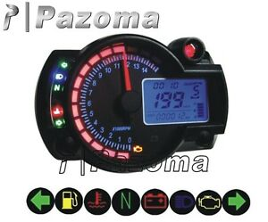 [DIAGRAM_38ZD]  Universal Tachometer Motorcycle Meter LCD Digital Backligh Speedometer Dirt  Bike | eBay | 12 Ebay Tachometer Wiring Diagram Explained Mini Bike Scooter |  | eBay