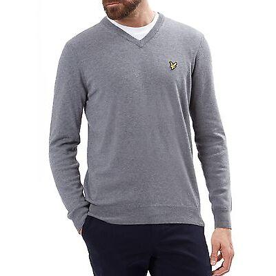 Lyle & Scott New Mens Regular Fit Cotton Merino Wool Blend V-Neck Jumper Sweater