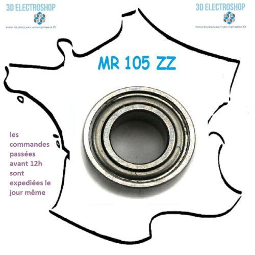 3d print cnc bearing roulement à billes MR 105 ZZ 5x10x4mm générique